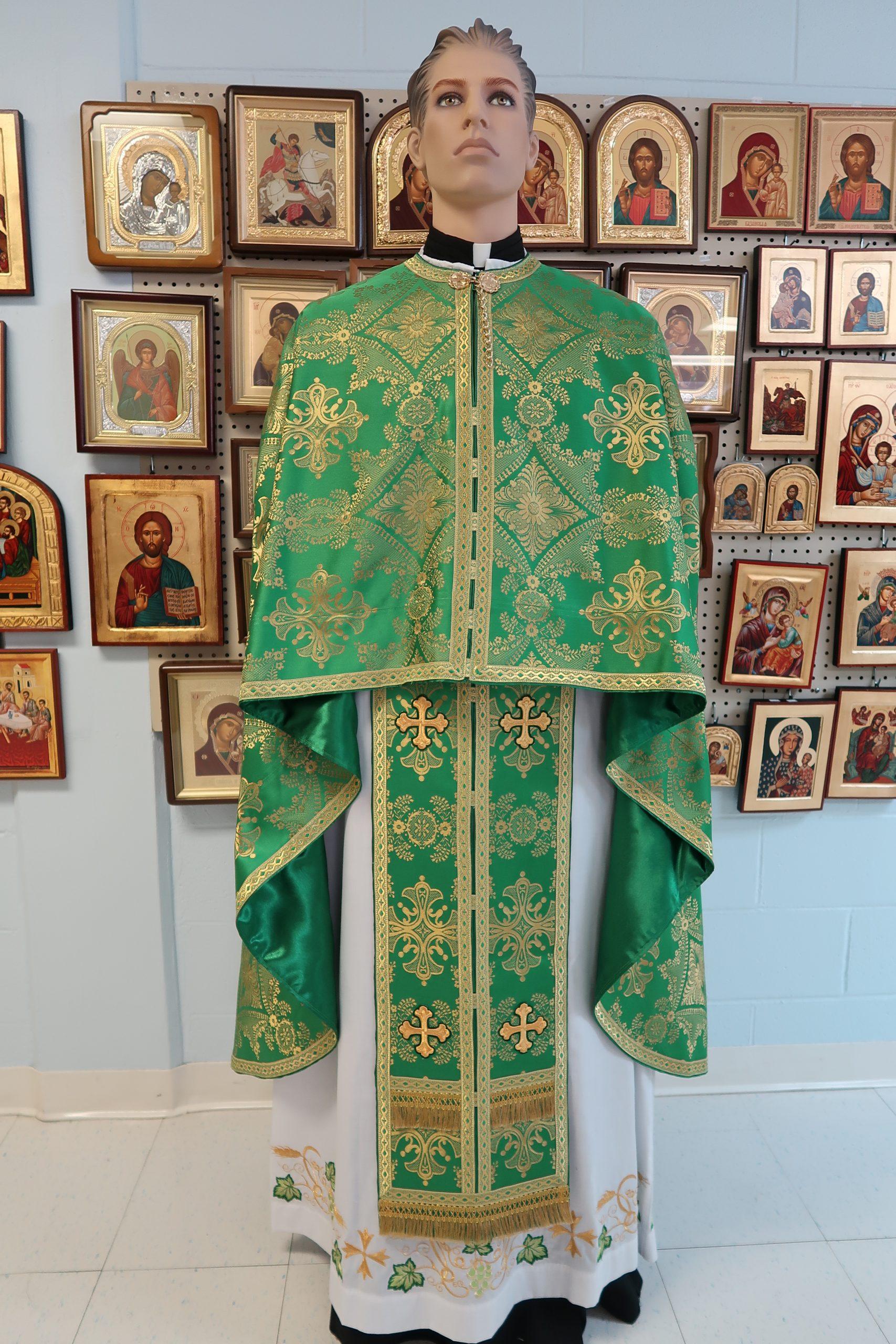 Green/Gold Vestment Set. – Byzantine Church Supplies